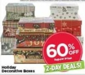 Holiday Decorative Boxes