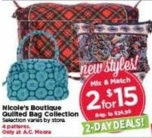Nicole's Boutique Quilted Bag Collection
