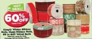 Simply Water or Mega Ribbon Rolls