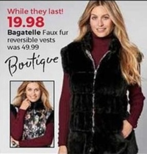 Bagatelle Faux Fur Reversible Vests