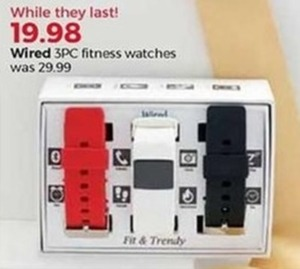 Wired 3PC Fitness Watches