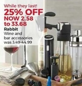 Rabbit Wine and Bar Accessories