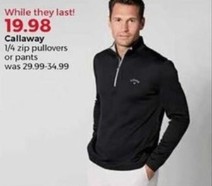 Callaway 1/4 Zip Pullovers Or Pants