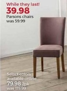 Parsons Chairs