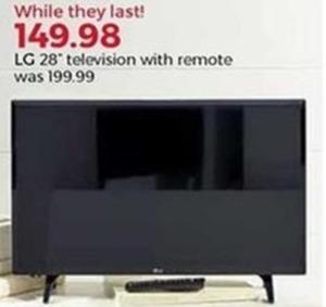 "LG 28"" Television w/ Remote"