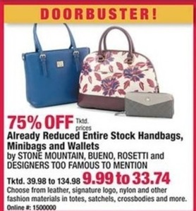 Entire Stock of Reduced Handbags, Minibags & Wallets