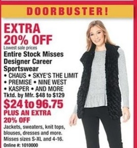 Misses Jackets, Sweaters, Knit Tops, Blouses, Dresses & More