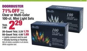 Clear or Multi-Color 20-ct. Mini Light Sets