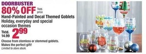 Hand-Painted and Decal Themed Goblets Holiday, Everyday and Special Occasion Themes