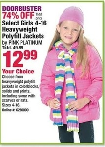 Heaveyweight Girls' Polyfill Jackets
