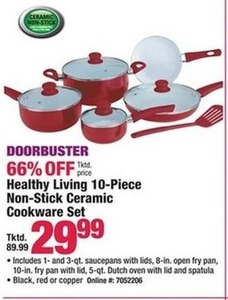 Healthy Living 10-pc. Non-stick Ceramic Cookware Set