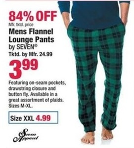 Mens Flannel Lounge Pants