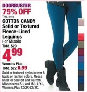 Cotton Candy Fleece Lined Leggings