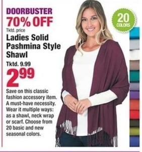 Ladies Solid Pashmina Style Shawl