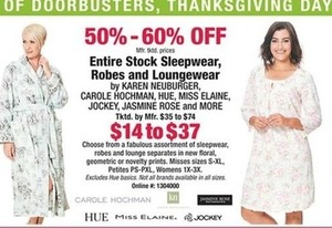 Entire Stock Sleepwear, Robes, and Loungewear