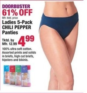 Women's 5-pack Panties