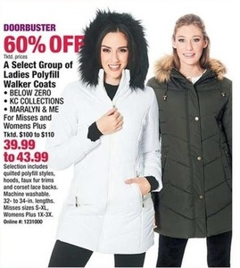 Select Group of Ladies Polyfill Walker Coats