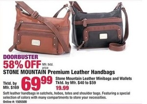 Stone Mountain Premium Leather Handbags