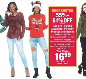 Juniors Fashion Sweaters, Sweater Dresses and Denim