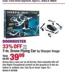"Sharper Image 7"" Drone Flying Car"