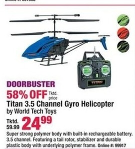 Titan 3.5 Channel Gyro Helicopter