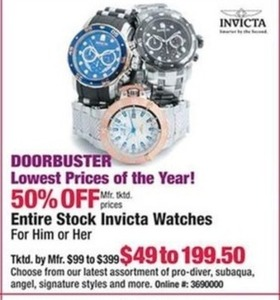 Entire Stock Invicta Watches