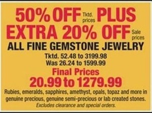 50% Off All Fine Gemstone Jewelry