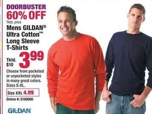 Mens Gildan Ultra Cotton Long Sleve T-Shirts