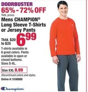 Mens Champion Long Sleeve T shirts or Jersey Pants