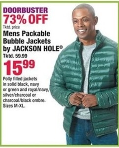 Mens Packable Bubble Jackets by Jackson Hole