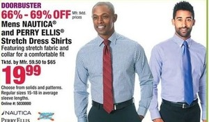 Mens Nautica & Perry Ellis Stretch Dress Shirts