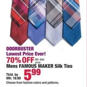 Mens Famous Maker Silk Ties