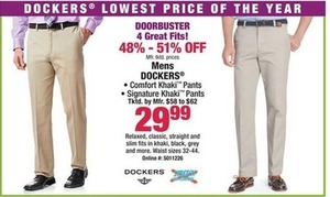 Mens Dockers Khaki Pants