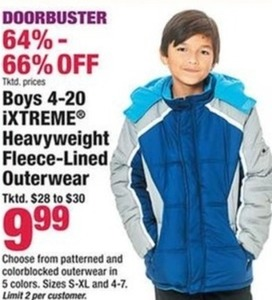 Boys 4-20 iXtreme Heavyweight Fleece Lined Outerwear