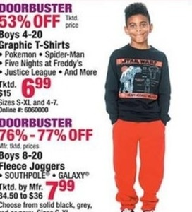 Boys' Graphic T-Shirts & Fleece Joggers