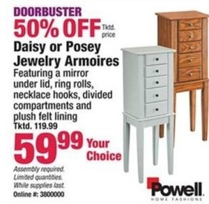 Daisy or Poset Jewelry Armoires