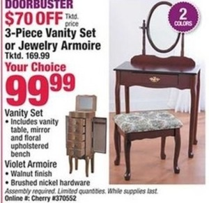 3pc Vanity Set or Jewelry Armoire