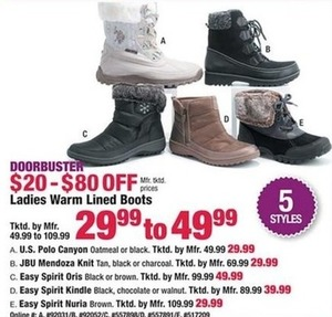 Ladies Warm Lined Boots