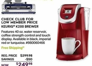 Keurig K200 Brewer