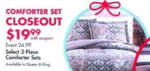 Comforter Set w/ Coupon