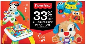 33% Off All Fisher-Price Infant Toys