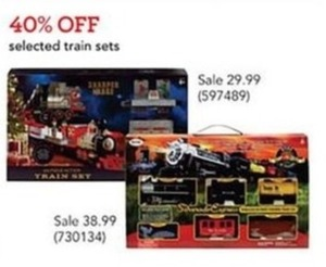 Sharper Image North Pole Junction Christmas Train