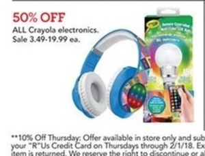 All Crayola electronics