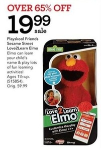 Playskool Friends Seeame Street Love2Learn Elmo