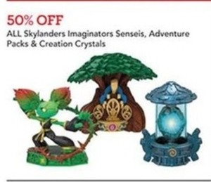 All Skylanders Imaginations Senseis, Adventure Packs and Creation Crystals