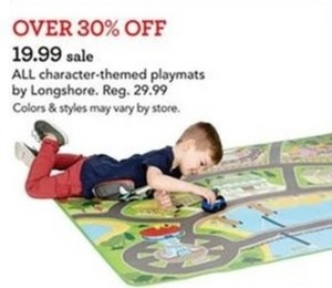 Over 30% Off 19.99 Sale All Character Themed Playmats By Longshore