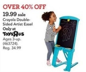 Crayola Magnetic Double Sided Artist Easel