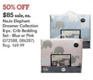 NoJo Elephant Dreamer Collection 8-Piece Crib Bedding Set