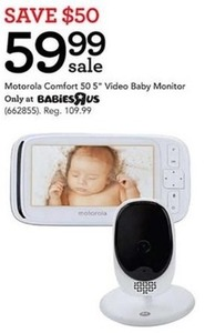 "Motorola Comfort 50 5"" Video Baby Monitor"