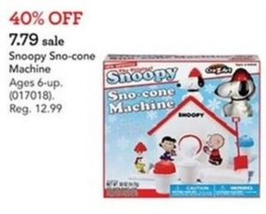 Cra-Z-Art Original Snoopy Sno-cone Machine